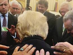 Trump In The Oval Office Evangelical Leaders Pray Over Trump In Oval Office