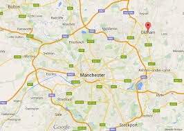 map of oldham where is oldham on map greater manchester world easy guides