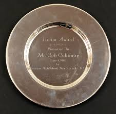 engraved silver platter lot detail cab calloway personal silver platter engraved honor award