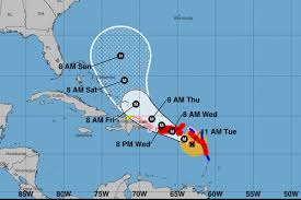 Puerto Rico On Map by Hurricane Maria Headed For Puerto Rico After Hitting Dominica