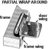 Full Wrap Around Cabinet Hinges by Kitchen Cabinet U0026 Vanity Door Hinges Part 2