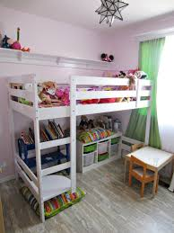 wood loft bed with crib underneath comfortable loft bed with