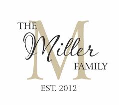last name monogram personalized family name crown monogram vinyl wall decal custom