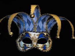 authentic venetian masks 432j cordone jolly arlecchino blue gold venetian masquerade mask