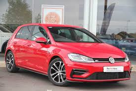 red volkswagen golf used volkswagen golf r line red cars for sale motors co uk
