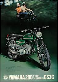 yamaha brochure cs3 cs3c 200 1970 1971 1972 sales catalog