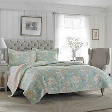 Quilted Coverlets And Shams Laura Ashley Rowland Reversible Quilt Set Hayneedle
