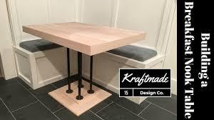 breakfast nook table kraftmade youtube