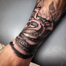 black ink money rose tattoo design for sleeve money half sleeve