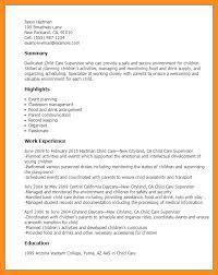 Sle Resume Of Child Caregiver Sle Resume Child Care Targer Golden Co