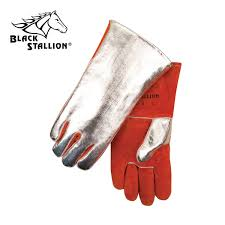 buy alum buy alum side split cowhide wool lined premium welding gloves