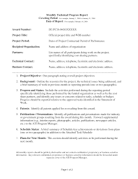 business report template technical report template best business template monthly technical report template doc kmzulmrt