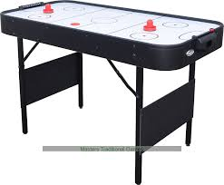 foldable air hockey table shark folding air hockey table white 4 foot