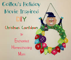 caillou s inspired diy countdown