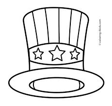 hat coloring page safari hat coloring page free printable coloring