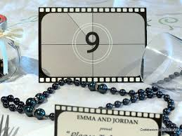 themed table numbers reel table numbers for themed party or wedding