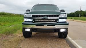 Led Light Bar Truck Tinted Lens Led Light Bar Behind Grill Chevy And Gmc Duramax