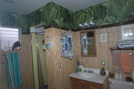 Surf Bathroom Decor California House Remodel Tiki Surf Bathroom With New Wall Paper