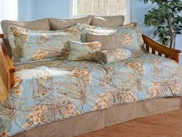 Daybed Covers And Pillows St Simons Brown U0026 Blue Floral Tropical Daybed Bedding Drapes