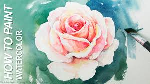watercolor step by step how to paint a rose youtube