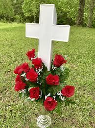 Ceramic Garden Spheres Amazon Com Eternal Light Cross Solar Lighted Cross For Cemetery
