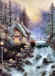 819 best kinkade images on kinkade paintings