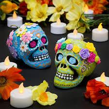 dia de los muertos flower skulls free craft ideas baker ross