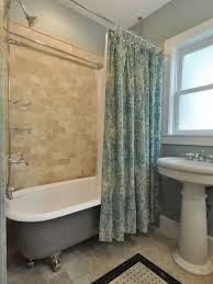 Clawfoot Tub Shower Curtain Ideas Satin Green Printed Shower Curtain For Clawfoot Tub With Light