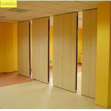 sound proof wooden room dividing hotel restaurant movable