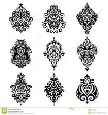 damask flower ornamental designs stock vector image 51809686