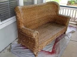 Wicker Settee Replacement Cushions Diddle Dumpling Before And After Wicker Loveseat More