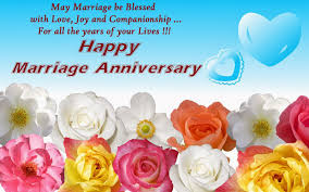 happy wedding anniversary blessed and wishes graphic