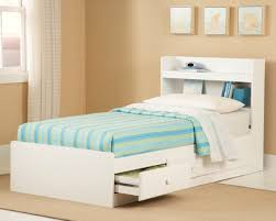 Full Size White Storage Bed With Bookcase Headboard New Visions By Lane My Space My Place Bookcase Headboard In White