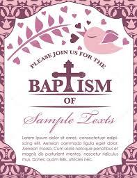 Sample Invitation Card For Christening Baptism Card Invitation Bird And Pattern U2014 Stock Vector Pixejoo