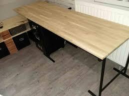 plateau de bureau en bois awesome bureau bois planche plateau vieilli pictures avec plateau de