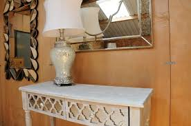 wood and mirrored console table dressing table second hand household furniture buy and sell in