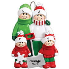 buy snow shovel family of four personalized ornament from a large