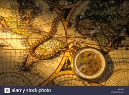 World Map Watch Pocket Watch On Old World Map Stock Photo Royalty Free Image