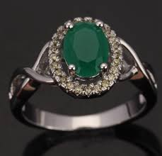 silver rings women images Women green stone silver rings qat jewellery jpg
