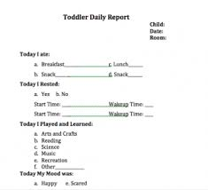 daily report sheet template infant and toddler daily sheet templates kinderlime
