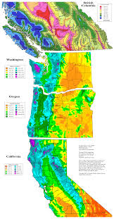 Seattle Elevation Map by Skiing The Cascade Volcanoes Snowfall And Snowdepth