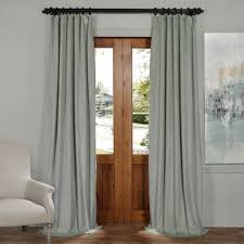 Velvet Blackout Thermal Curtains Grey Velvet Curtains And Drapes Half Price Drapes