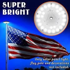 Solar Powered Lights For Flagpoles Solar Power 26 Led Flag Pole Light Night Super Bright Flagpole