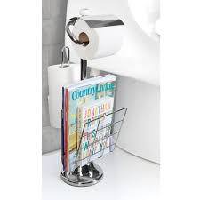 Toilet Paper Holder With Shelf Amazon Com Toilet Paper Caddy Tissue Dispenser And Stand With