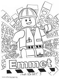 lego movie emmet coloring