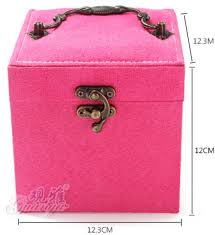 Makeup Box buy lovely flannelette three layers of makeup box earrings storage