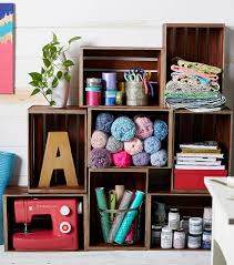 how to make a craft room crate wall joann