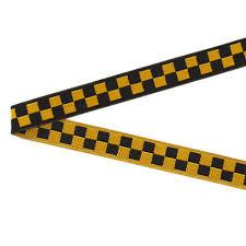black and yellow ribbon 3 8 luella doss black gold checkerboard ribbon discount
