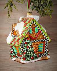 mackenzie childs gingerbread house ornament
