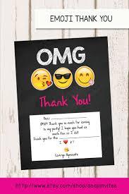 emoji birthday thank you card emojis emoji invite
